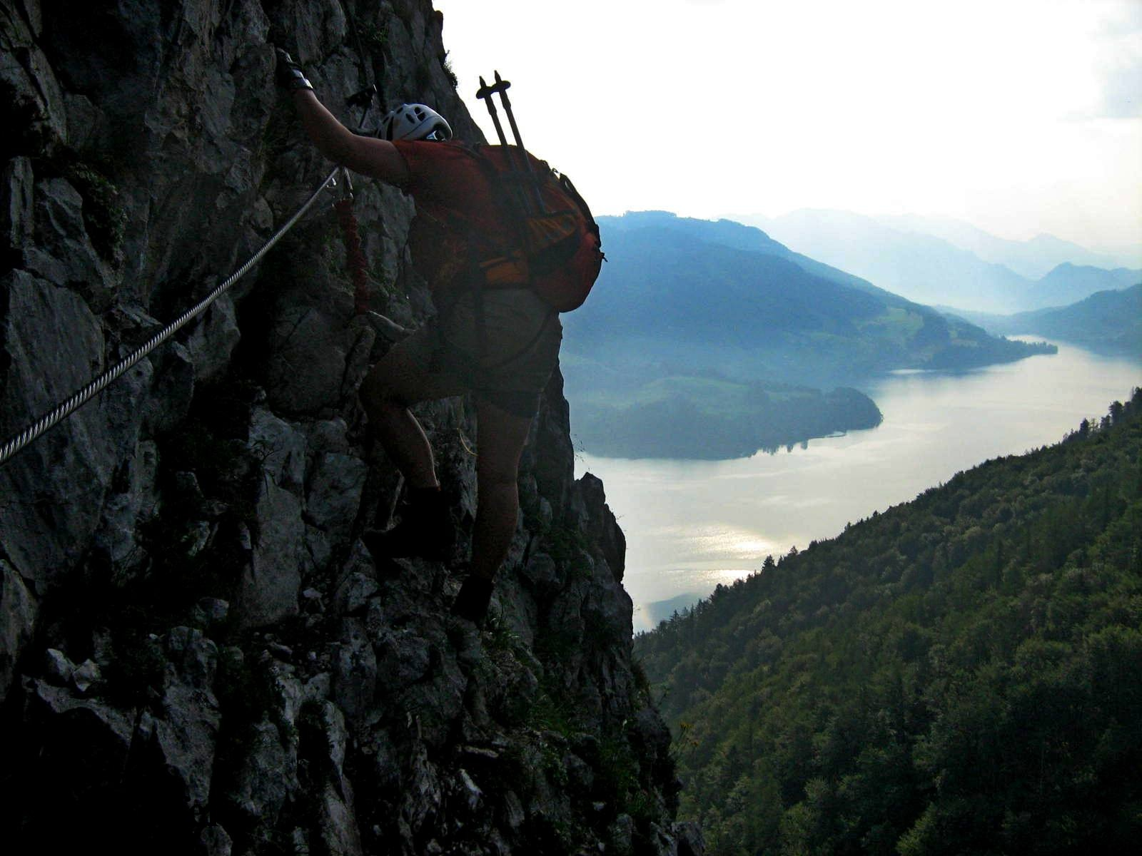 Klettersteig Mondsee : Drachenwand klettersteig m u meine bergtouren