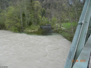hier fließt der Weißbach in die Sallach