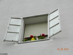 zartes grün im Fenster