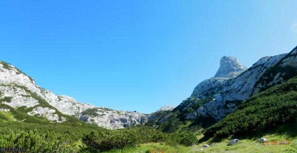 Rückblick zur Berghütte